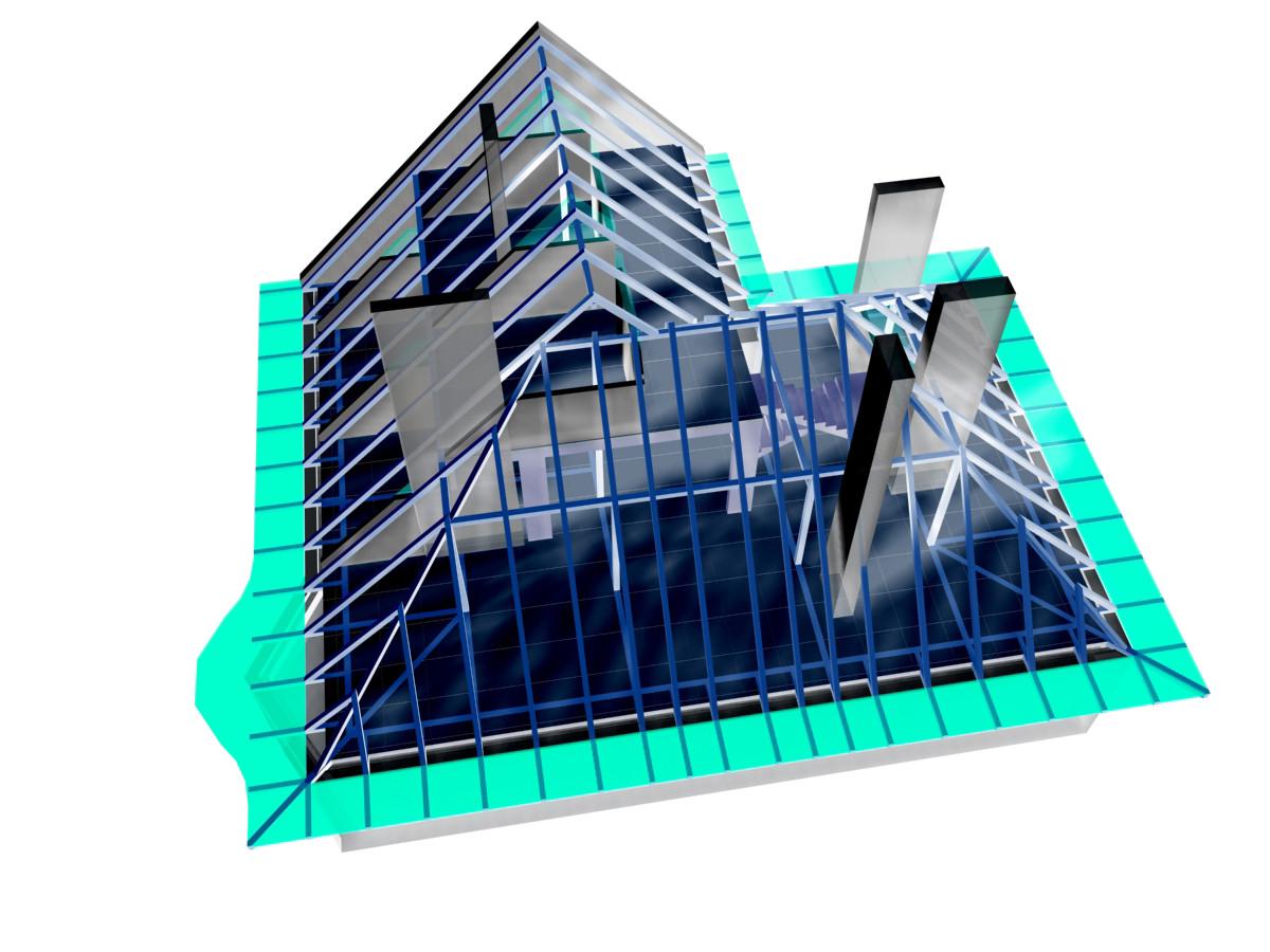 <p>© RUNSER / PRANTL architekten, Haus O. Dachbodenausbau, 1090 Wien, Österreich, 2002, Dachbodenausbau, Wohnhaus</p>