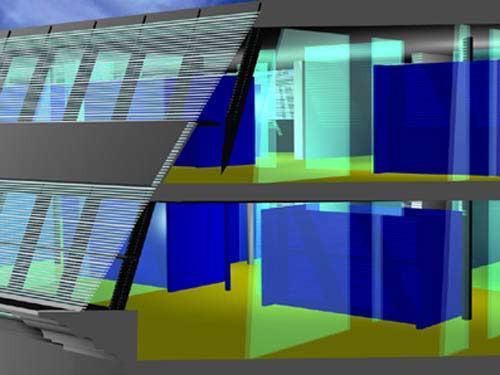 <p>© RUNSER / PRANTL architekten, Erweiterung Bundesamtsgebäude Hetzgasse, 1030 Wien, Österreich, Wettbewerb, 1999, Dachbodenausbau, Bürohaus</p>