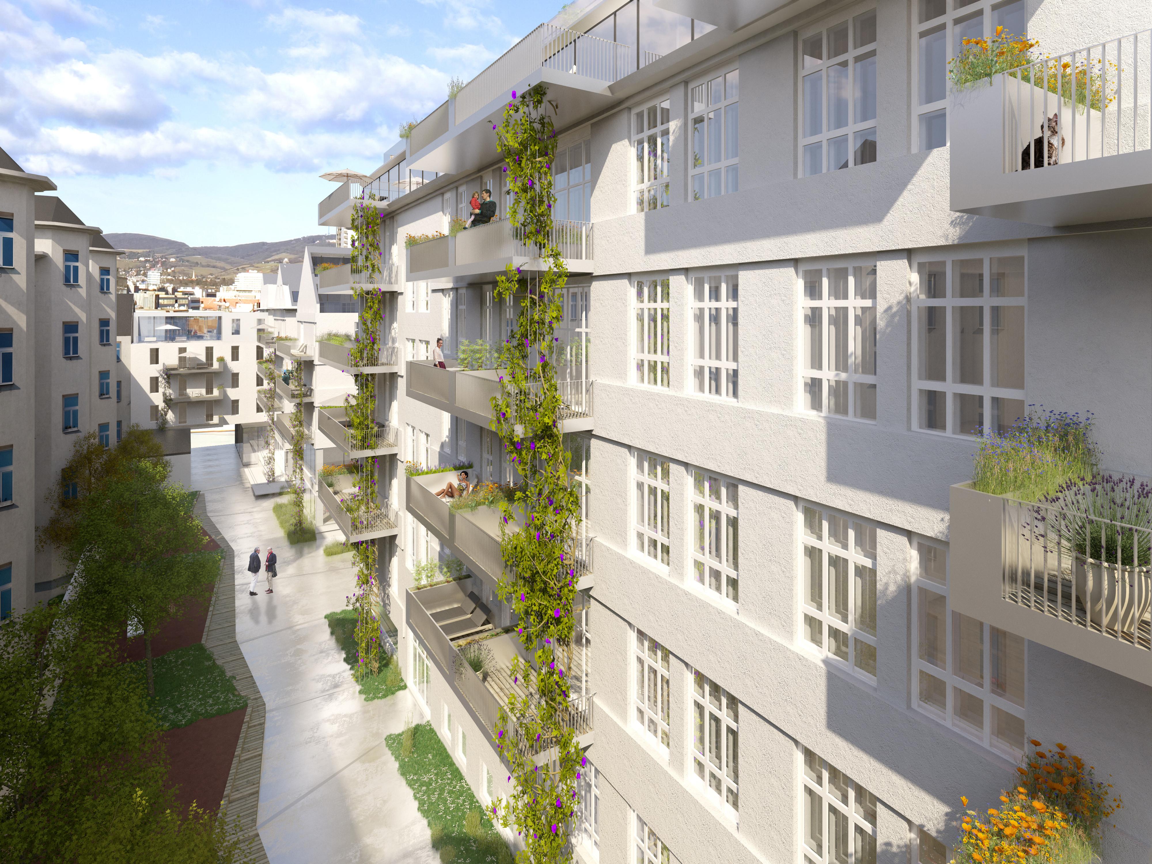 <p>© RUNSER / PRANTL architekten, Siebenbrunnengasse Gutachterverfahren , 1050 Wien, Österreich, Wettbewerb, 2015, Wohnhaus, Bürohaus</p>