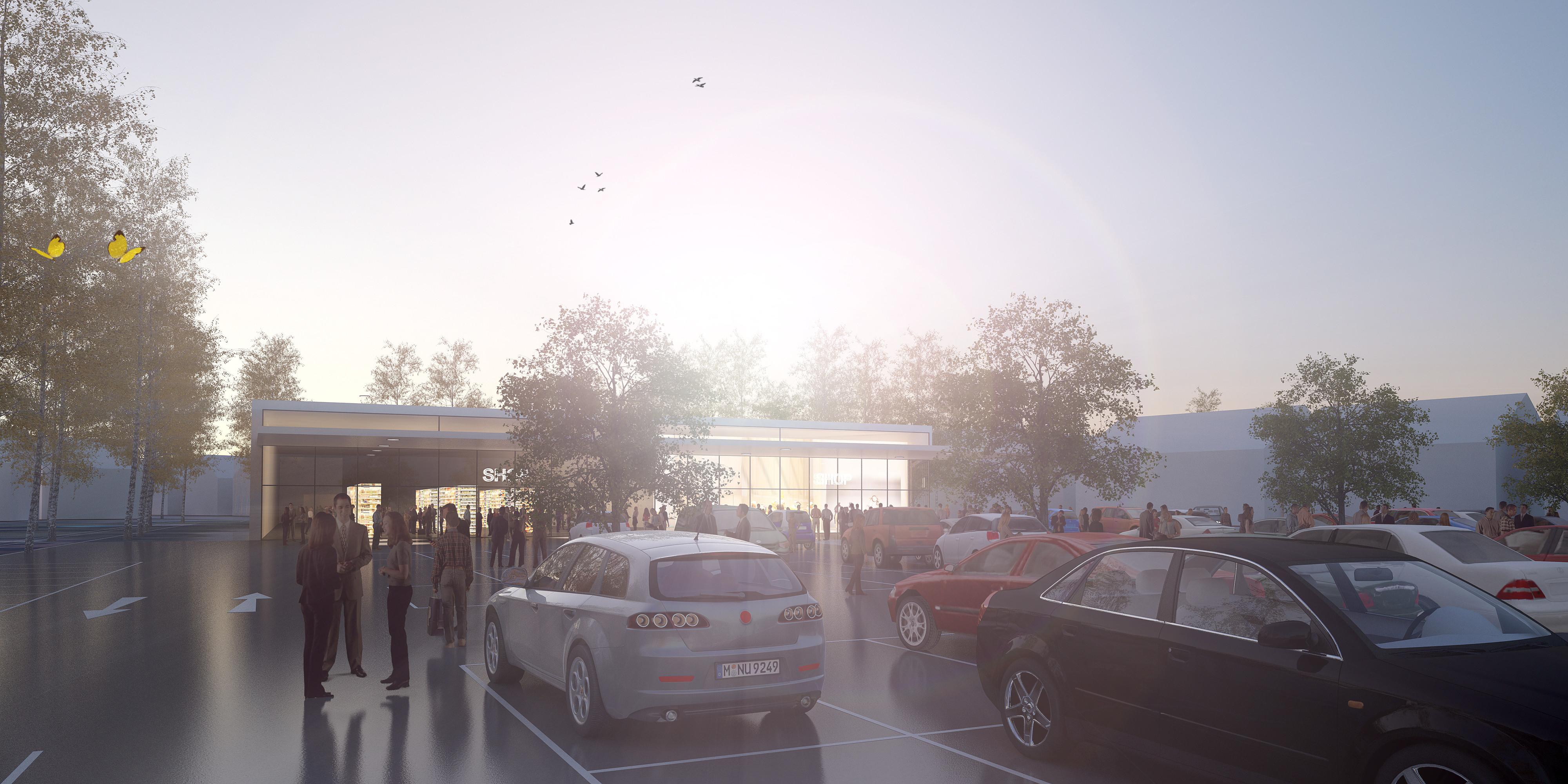 <p>© RUNSER / PRANTL architekten, Kaufpark Vösendorf Erweiterung, 2331 Vösendorf, Niederösterreich, Österreich, 2014, Kaufpark, Einkaufszentrum</p>