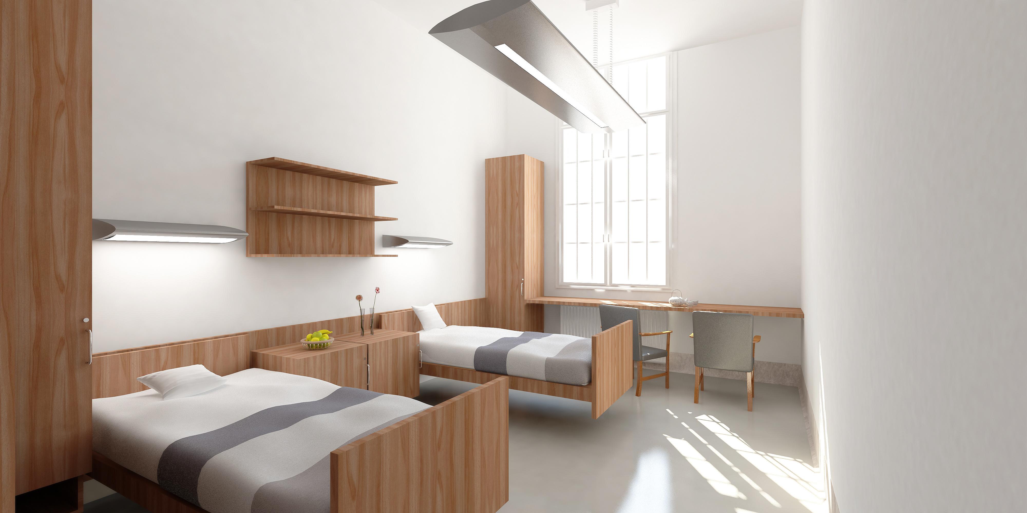© RUNSER / PRANTL architekten, Otto Wagner Spital Pavillon 17, 1140 Wien, Österreich, 2011, Spital, Krankenhaus, Phychiatrische Abteilung