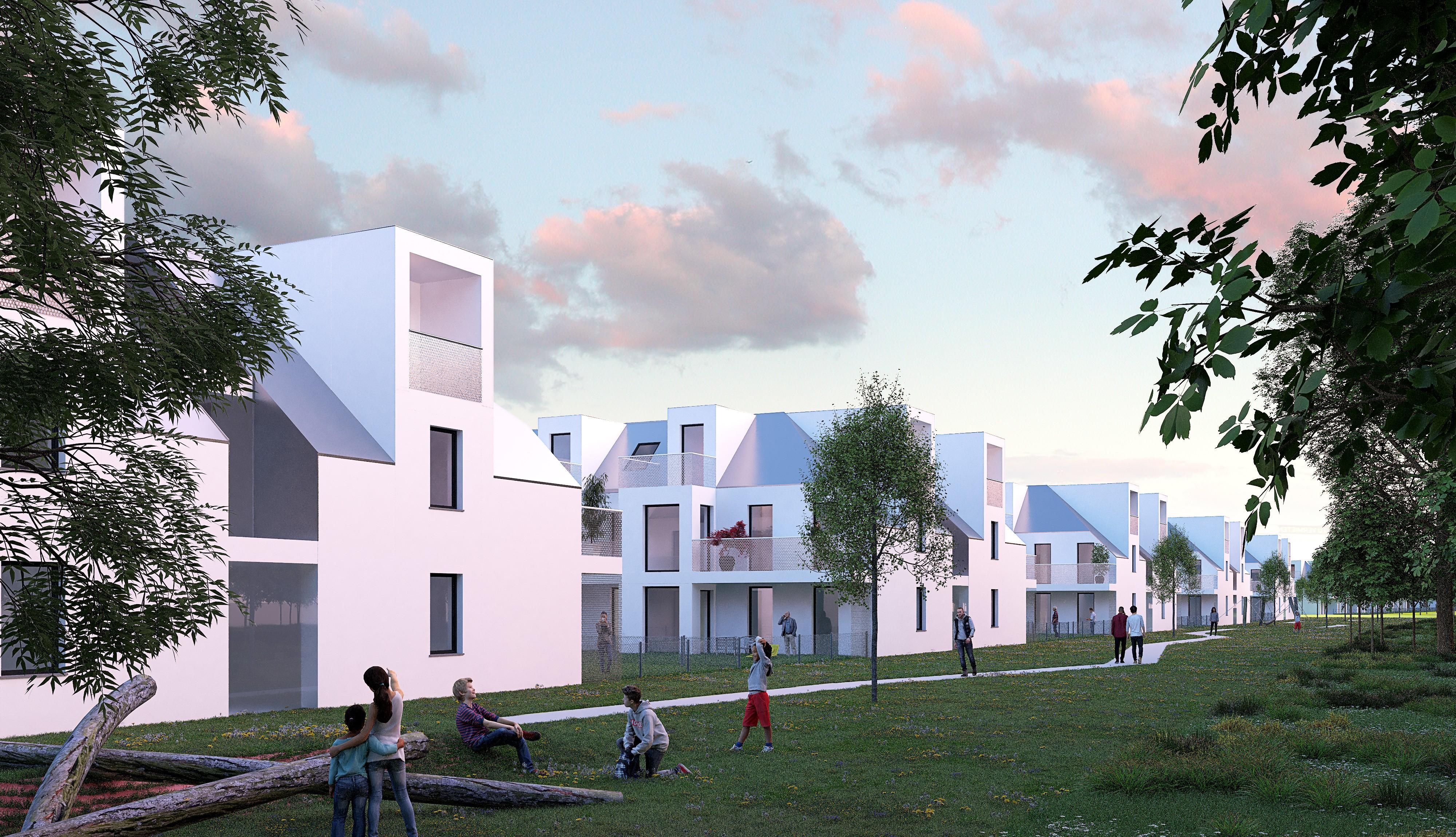© RUNSER / PRANTL architekten, Passiv Wohnhausanlage, 1210 Wien, Österreich, Wettbewerb, 2019, Passiv Wohnhausanlage