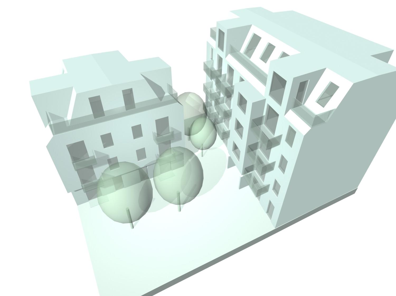 <p>© RUNSER / PRANTL architekten, Wohnhausanlage Auhofstrasse, 1130 Wien, Österreich, 2007, Wohnhausanlage</p>