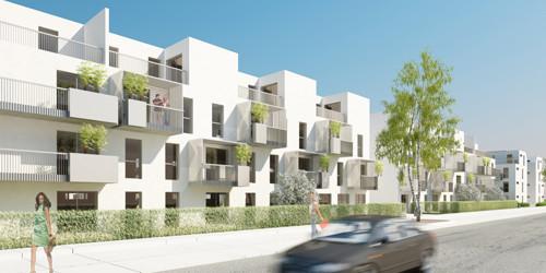 <p>© RUNSER / PRANTL architekten, Passiv Wohnhausanlage - Kostengünstiges Wohnen, 1220 Wien, Österreich, Bauträgerwettbewerb, 2011, Passiv Wohnhausanlage</p>