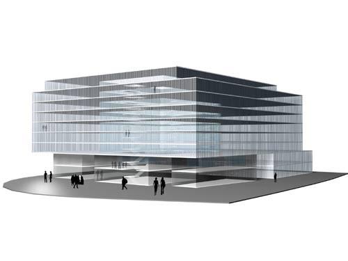 <p>© RUNSER / PRANTL architekten, ÖBB Bürogebäude Praterstern, 1020 Wien, Österreich, Ideenwettbewerb, 2004, Bürohaus<p>