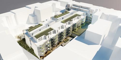 <p>© RUNSER / PRANTL architekten, Passiv Wohnhausanlage, 1040 Wien Goldeggasse, Österreich, Wettbewerb, 2013, Passiv Wohnhausanlage</p>